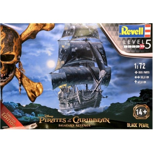 Kit de Montar Revell 1:72 Disney Piratas do Caribe Black Pearl Limited Edition