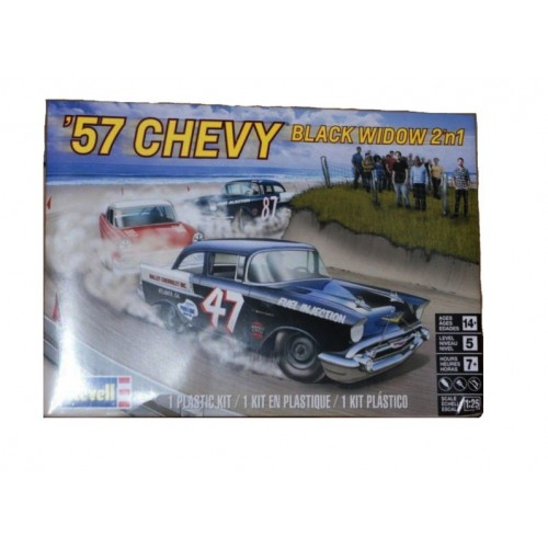 Chevy 57 Black Widow 2 em 1