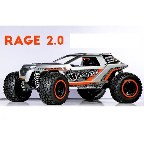 Automodelo Kyosho 1:10 Rc Rage 2.0 Cinza